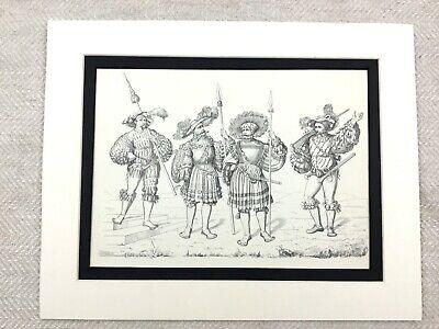 Kostüm Aufdruck 16th Jahrhundert Deutsche Fuß Soldat Hecht Staff Uniform - Fuß Soldaten Kostüm