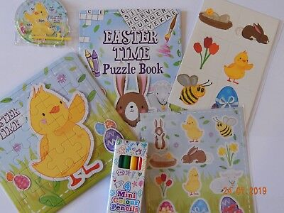 6 Small Easter Treats - Toy Loot Party Bag Fillers Kids Hunt Prize Chick Bunny