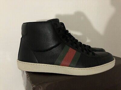 Gucci Leather High Top Sneakers Size 10 Or G9