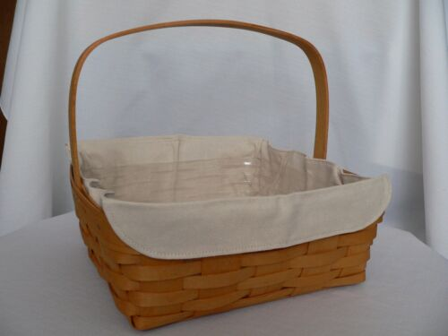 LONGABERGER GOURMET OR PIE BASKET LINER FLAX FITS BOTH BASKETS! NEW