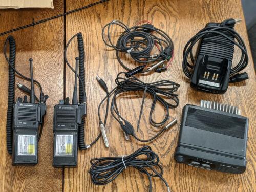Motorola CDM750 base station HT1000 radios & charger - IMSA & Nascar plugs - UHF
