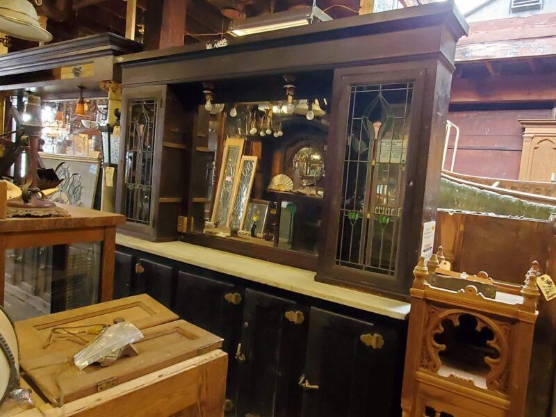 Antique Saloon Tavern Back Bar Backbar