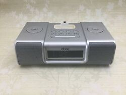 Silver iHome iP9 Alarm Clock Radio, Apple iPod & iPhone Docking with Remote