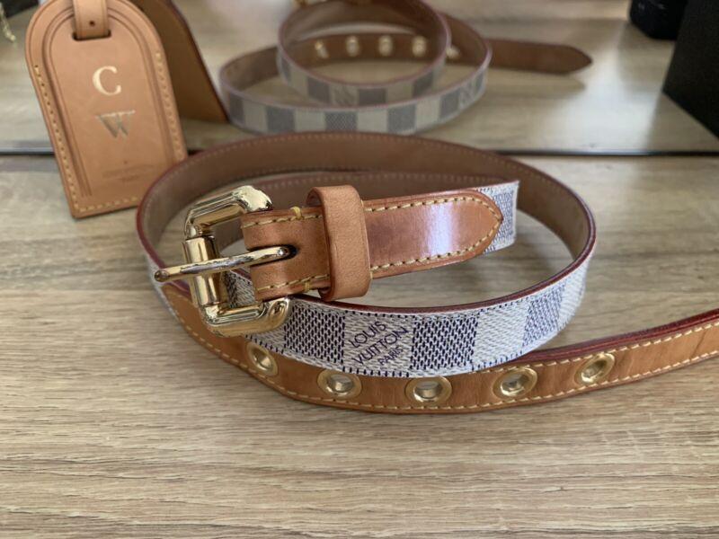 6038d43b9ca5 Authentic Louis Vuitton Damier Azur belt