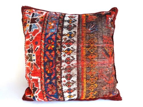 """Superb 19th fragment Tribal Kasha  Pillow 17"""" by 17"""""""