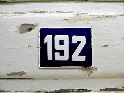 Vintage European Street Sign Enamel Address Number 192 Door Plaque Address Sign (European Address Plaque)