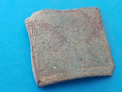 Nice Roman bronze buckle plate in uncleaned condition found in Britian. L145