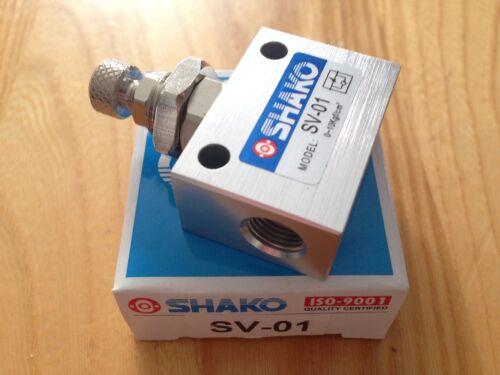 "Shako SV-01 Pneumatic Flow Control Valve - 1/8"" (25 pc lot)"