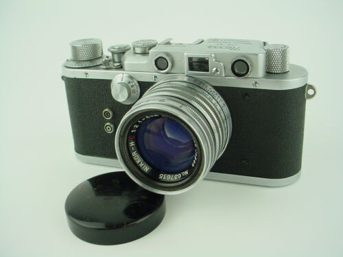 NICCA IIIs Rangefinder CAMERA w/ 5cm f/2 NIKKOR H.C NIPPON KOGAKU Lens - Works