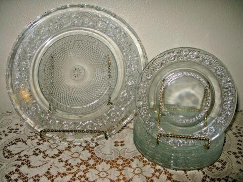 BALI  7 Piece Cut Glass Plate Set   BEAUTIFUL