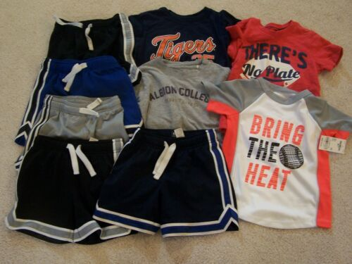 LOT OF 9 BOYS 3-3T SHORTS AND SHIRTS
