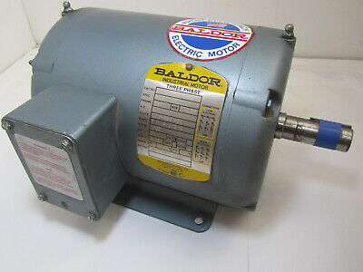Baldor 35b01-372 Electric Motor 1 Hp 1725 Rpm