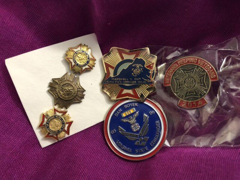 Six Assorted VFW Lapel Pins