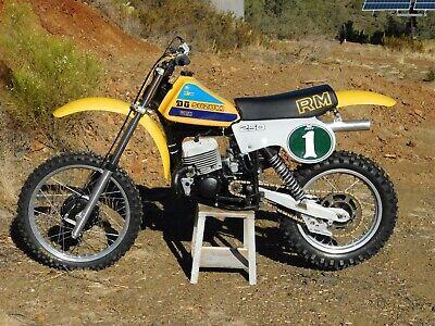 '80 Suzuki RM250 RM 250 T Vintage MX MotoCross Moto-X RACE SHOW Rare Beautiful