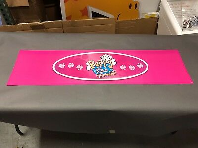 VERY RARE PUPPY IN MY POCKET FRIENDS PROMO SIGN DISPLAY TOYS R US HASBRO