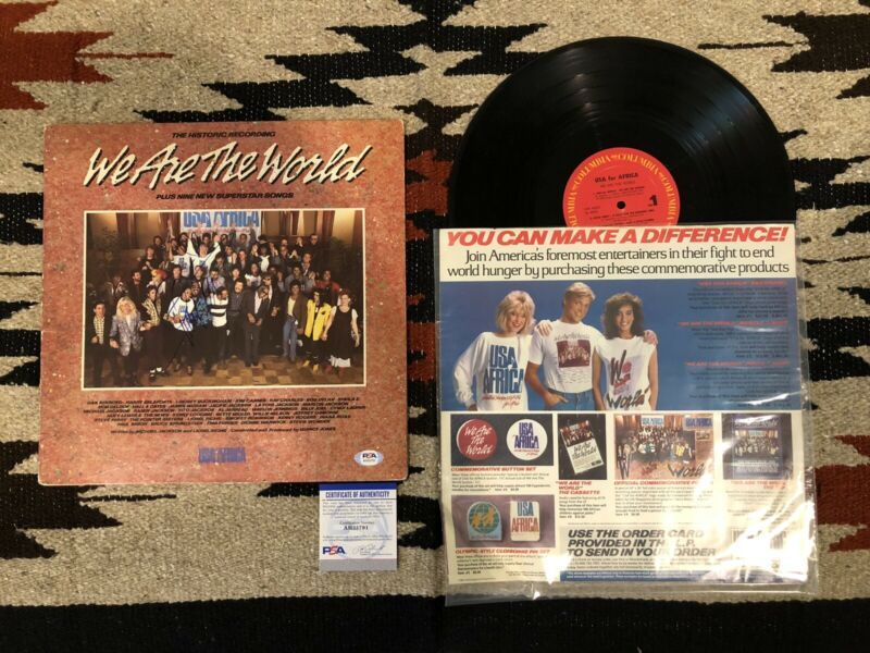 Quincy Jones - We Are The World SIGNED Vinyl LP w/ PSA AUTHENTICATION