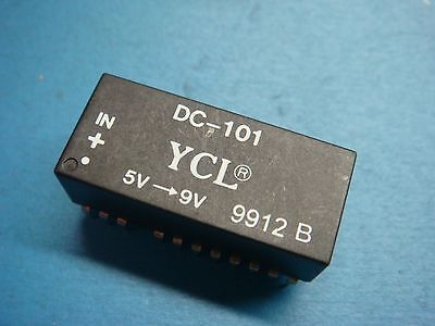 1 Ycl Dc-101 Lan Dcdc Converter Isolation 500v Power In 5v Out 9v 23 Pin Dip