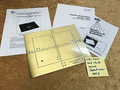 Rmi Nuclear Associates Grid Collimator Alignment Phantom Xray Test Tool Raysafe