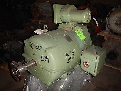 100 Hp Dc Louis-allis Electric Motor 1150 Rpm 504a Frame Dp 500 V