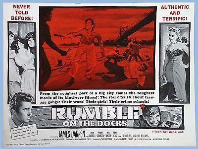 Vtg   Rumble On The Docks   Orig Columbia Pictures Pressbook   1956   Jas Darren