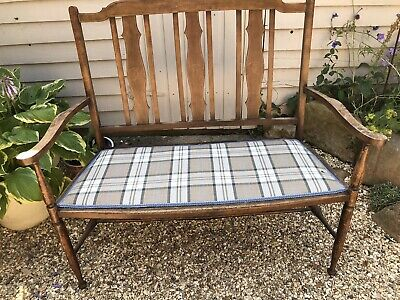 Antique Edwardian Salon Sofa Re-upholstered