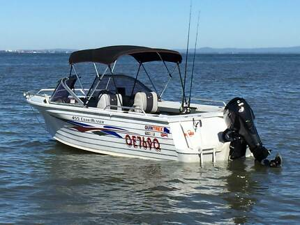 QUINTREX 455 COASTRUNNER WITH 50HP EVINRUDE E-TEC ENGINE & TRAILER Redcliffe Redcliffe Area Preview