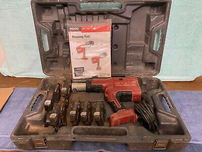 Ridgid Corded Pro Press Crimper Set Model Rp330 With 6 Jaws 12 Through 2