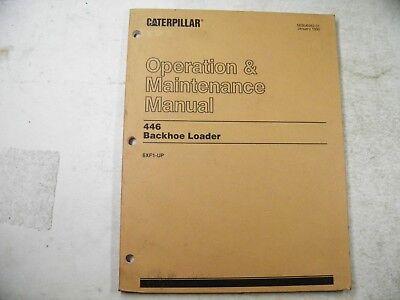 Cat Caterpillar 446 Backhoe Loader Operation Maintenance 6xf1-1