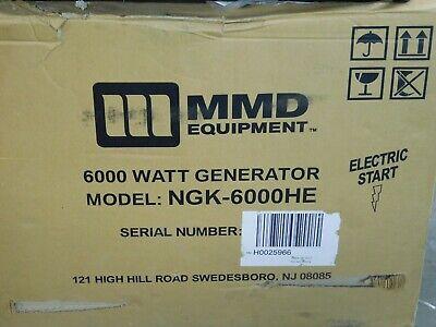 MMD - NGK-6000HE - 5000 Watt Electric Start Generator