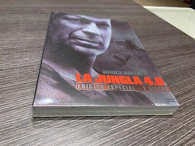 JUNGLA DE CRISTAL 4.0 DVD BRUCE WILLIS EDICION ESPECIAL 2 DISCOS PRECINTADA