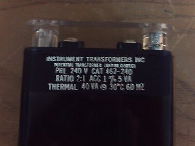 Instrument Transformers Inc. 467-240 Potential Transformer 1j-1759-d11