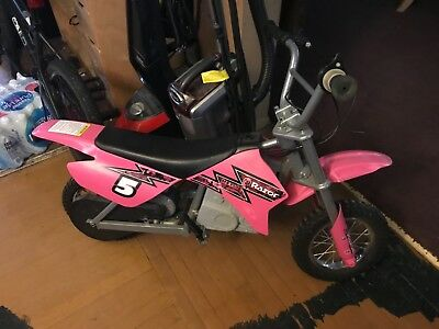 Razor MX350 24-Volt Dirt Rocket Electric Motocross Bike-Pink