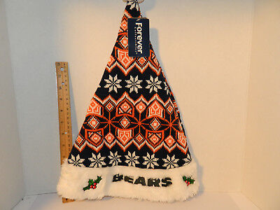 Chicago Bears Christmas Ugly Sweater SANTA HAT Knit Adult sz NFL Tailgate Party ()
