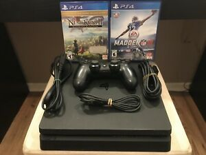 PS4 1TB Slim - 20+ Games/Controller/Cords