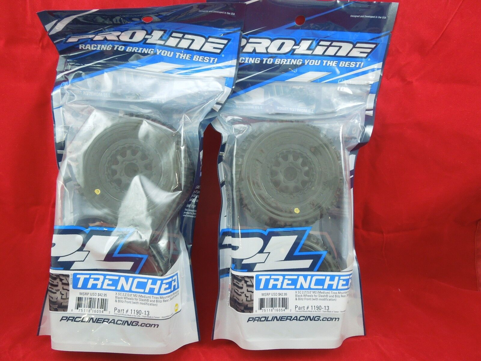 4 PRO-LINE Trencher X SC 2.2/3.0 M2 TIRES + WHEELS TRAXXAS S