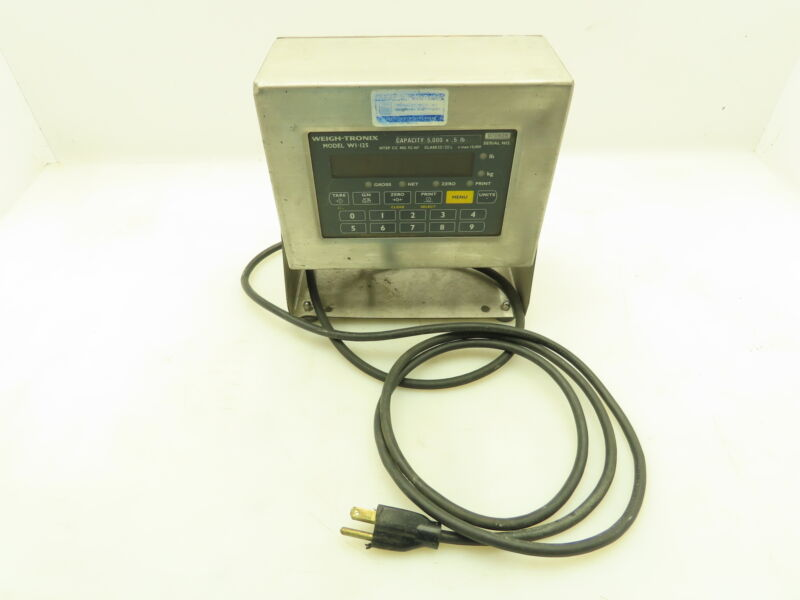 Weigh Tronix W1-125 Weight Scales Digital Display Control Panel 5000lbs Print