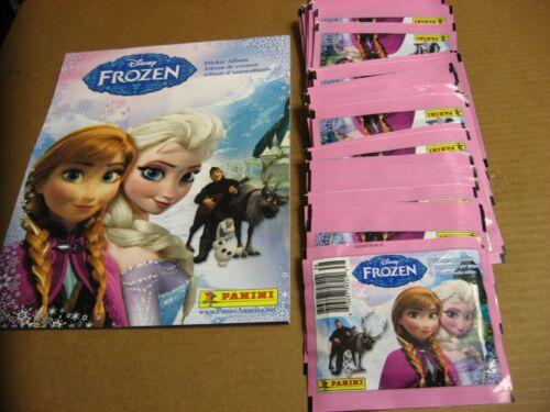 Disney Frozen Sticker Album W/ 25 Sealed Panini sticker Packs 175+ Stickers Nice