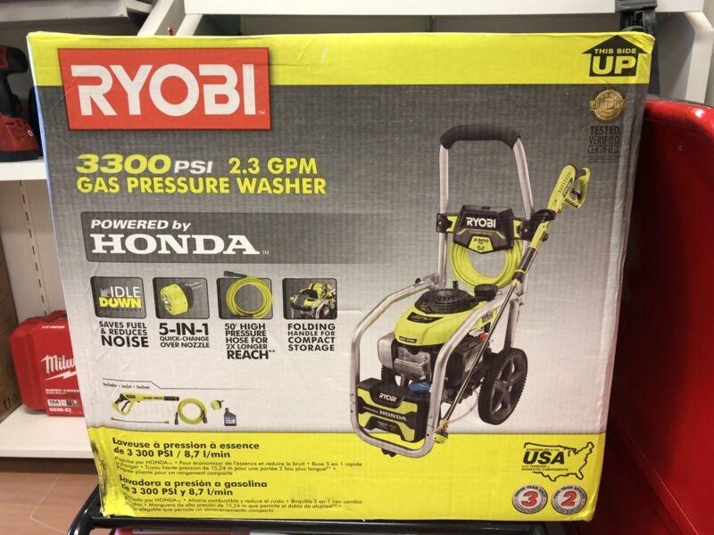 NEW Ryobi 3300 PSI 2.3 GPM Gas Pressure Washer Powered by Honda