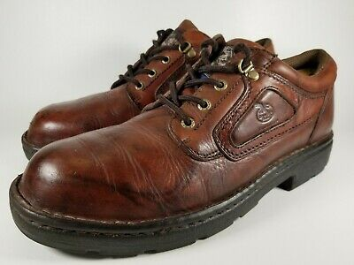 Georgia Boots Eagle Wildwood Leather Safety Steel Toe Oxford Shoes Men's Size 12 Georgia Mens Safety Shoes