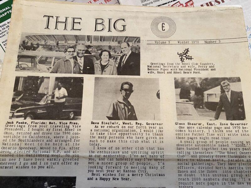 Large lot of Edsel memorabilia! Over 100 Items!