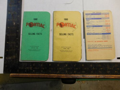 1980 PONTIAC SELLING FACT  BOOKLET  LOT OF 3