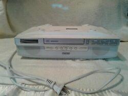 Sony ICF CD523 Under Cabinet Counter Clock Radio AM/FM CD player