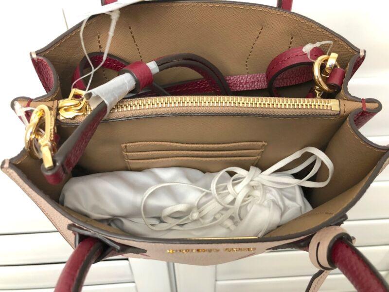 b72a85752184 ... Michael Kors Women s Pink Mercer Love Medium Leather Messenger Bag ...