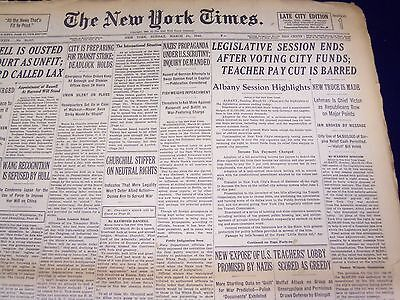 1940 March 31 New York Times   Teacher Pay Cut Barred   Nt 2885