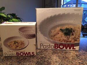Pasta bowls - 1 large serving bowl and 4 individual bowls