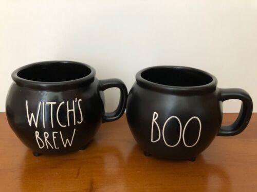 Rae Dunn Halloween Cauldron Mugs Set of 2 - Boo - Witch