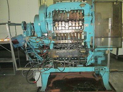 Waterbury Farrel 158 15 Ton 10hp 480v Transfer Press W4 Stripper Forks Twin D