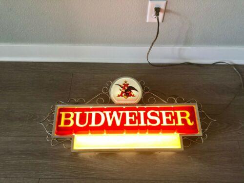Vintage 1967 Original Budweiser Beer Lighted Sign