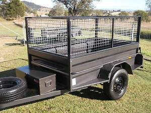 Sydney Built 7x4 Box Cage RHS Chassis 6 Leaf Leds Jockey Spare... Hatton Vale Lockyer Valley Preview