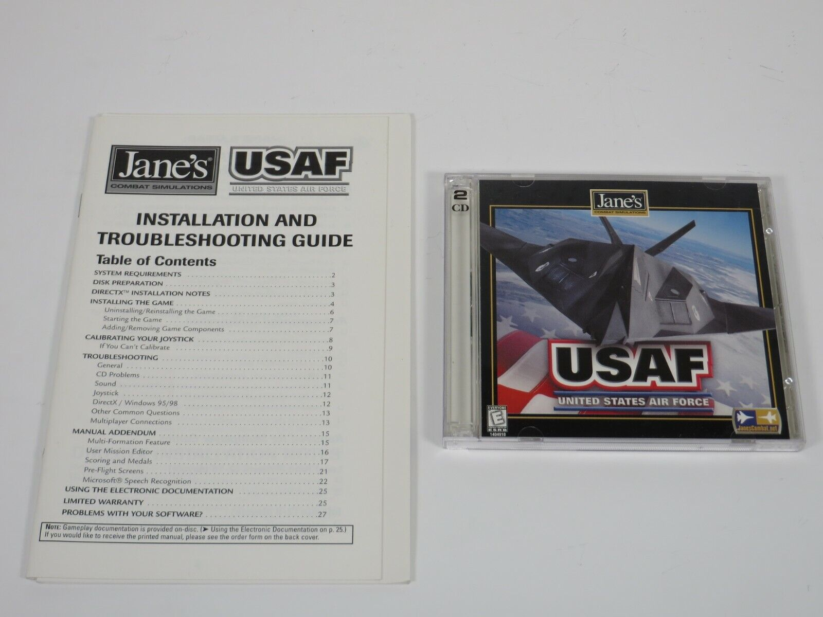 Computer Games - Jane's USAF (PC, 1999) PC Vintage Computer Game Electronic Arts
